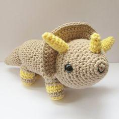 Amigurumi Triceratops Crochet Pattern.