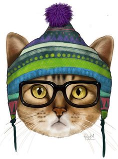 Gatuno // Cat by Mariel Gutierrez Rucksi, via Behance