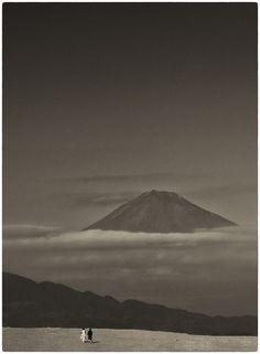 Albarrán Cabrera  —–  Instagram The Mouth of Krishna. Fuji from Miho beach, Japan, 2016. #484. Platinum Palladium print.