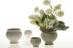"""Accent Decor - Spotti Pot 5.5""""x 5"""" Grey (option for centerpiece vase)"""