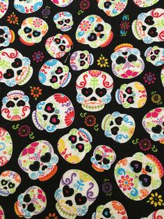 Excited to share the latest addition to my #etsy shop: Sugar Skulls (4) Cloth/Fabric Dinner Napkins https://etsy.me/2IhboCl #housewares #black #square #white #cotton #sugarskulls #skulls #dayofthedead #clothnapkins