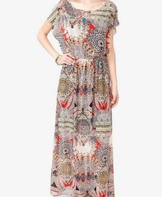 floral chiffon maxi dress | Floral Chiffon Maxi Dress