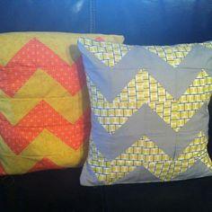 Handmade chevron cushions