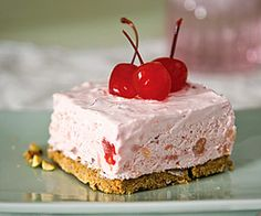 cherry fluff icebox dessert....I've made with strawberry pie filling as well.