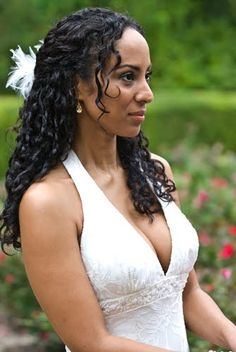 Natural Hair Wedding Style for curly hair(with pieces of course).