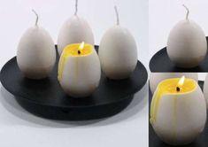 Como hacer velas caseras Velas realizadas con cascaras de huevo, naranja y pomelo Lavar bien las cascaras y dejar secar. Llenarlas con parafina teñida de amarillo y antes de que se enfríe por completo, insertar un escarbadientes en el centro, para introducir el pabilo. Si es necesario, verter un poco de parafina para fijarlo.