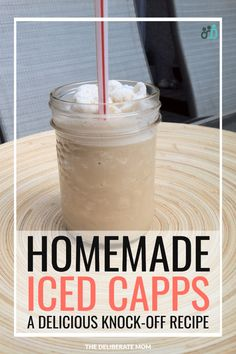 Homemade Iced Capps – Tim Hortons' Copycat Recipe A fabulous, easy-to-make, copycat Tim Hortons' Iced Capps knock off recipe! Cold, refreshing, and delicious! Plus it's a lot cheaper to make than the original version! Summer Drink Recipes, Summer Drinks, Tim Hortons Iced Coffee, Iced Capp Tim Hortons Recipe, Tim Hortons Iced Cappuccino Recipe, Sin Gluten, Apple Smoothies, Green Smoothies, Breakfast Smoothies