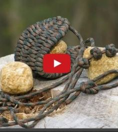 DIY paracord rock sling