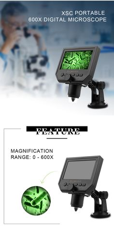 G600  Digital Portable 1-600X 3.6MP  Microscope Continuous  Magnifier with  4.3 203b8585e6