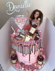 Birthday Cake Ideas Alcohol Ideas Birthday Cake Ideas Alcohol IdeasYou can find birthday cakes and more on our website. 21st Bday Cake, 22nd Birthday Cakes, Barbie Birthday Cake, Funny Birthday Cakes, Birthday Cakes For Women, Alcohol Birthday Cake, 19 Birthday, Female Birthday Cakes, 19th Birthday Outfit