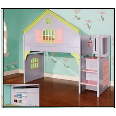 Found it at Wayfair - Donco Kids Doll House Twin Loft Bed