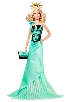 Statue of Liberty Barbie® Doll | dolls-of-the-world-landmark-collection | The Barbie Collection