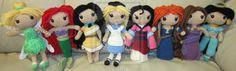 Disney Princess Handmade Amigurumi Set 1 by amigurumi4u.deviantart.com on @deviantART