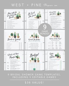Baby Predictions Advice Wishes TeePee Baby Shower Games Boho TeePee Baby Games Leaves Branch Baby Advice Predictions Cards Baby Game Bundle