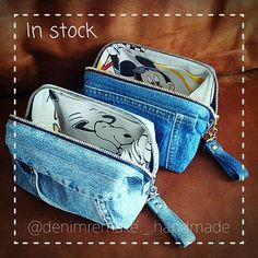 Your wallet is full of cards and receipts (? Because it is denim, the taste comes out and – SkillOfKing. Jeans Denim, Denim Bag, Pencil Case Pouch, Denim Crafts, Denim Ideas, Recycled Denim, Fabric Bags, Handmade Bags, Purses And Bags