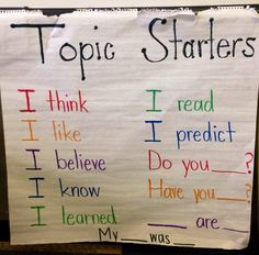 good topic sentence starters for essays