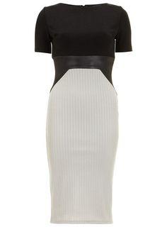 Amy Childs Livvy Black Grey Midi Skirt