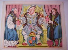 Henry VIII Presenting Bibles Tudor History, Henry Viii, Bible, Princess Zelda, Painting, Fictional Characters, Art, Fashion, Biblia