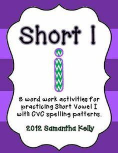 8 FREE Activities to practice Short I in CVC words!