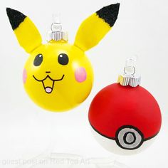 If you love Pokemon, then these easy DIY Pokemon Ornaments are for you. The Pikachu ornament is just SO CUTE and goes perfectly with the Pokeball