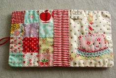 Quilted happy birthday needle book