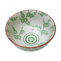 Japanese Bowl - Green Blossom