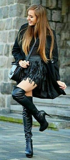 Pinterest : Js Babes in Boots 2 please follow #highheelbootsskirt #hothighheels
