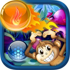 Puzzling stages, Jungle scene with the spirited monkey and hundreds of levels make it a special bubble shooter game.