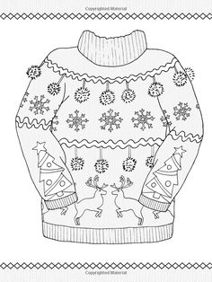 Amazon Creative Haven Ugly Holiday Sweaters Coloring Book Adult