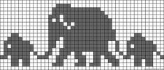 Knitting Pattern For Elephant Family Bab - Qoster Knitting Charts, Baby Knitting Patterns, Knitting Stitches, Crochet Patterns, Crochet Chart, Filet Crochet, Crochet Baby, Alpha Patterns, Loom Patterns