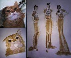 #cat #inspiration #Gyilkos #inspiredbymycat #mycat #redcat #fashion #fur #moda #woman #modafeminina #designer #fashiondesigner #student #studentasfashiondesigner #homework #illustration #fashionillustration