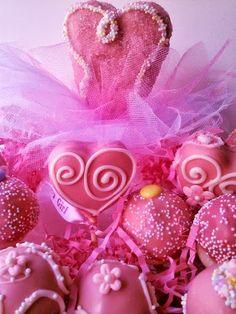 Girly cake pops birthday party idea