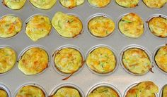 Mini zucchini and carrot egg muffins. These mini snacks are great for on-the-go or for a quick meal for babies. They also freeze very well. | 3 Fast and Healthy Finger Food Recipes for Your Baby | YummyMummyClub.ca | #MommyKnowHow