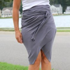 How to make a no sew wrap around tulip skirt. And then 3 different ways you can style it.