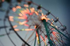 ferris wheel at sunset.  the jump in your stomach as you reach the top