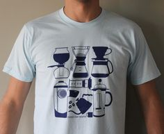 """Choose Your Weapon""- A Manual Coffee Brewing T-Shirt"