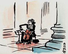 Le violoncelliste  - Panthéon, Roma