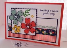 "Female Card ""Affectionately Yours Suite, Stamp Set - Love & Affection"", Affectionately Yours Washi Tape, Free Tutorial - https://sunshinecards-creations.com/2016/09/14/sending-a-smile-2/ , Stampin' Up!"