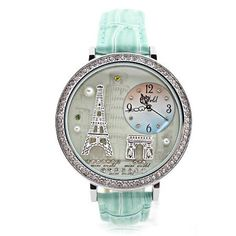 Cool! Romantic Eiffel Tower rhinestone trim Watch just $34.9 from ByGoods.com! I can't wait to get it! #womenwatches