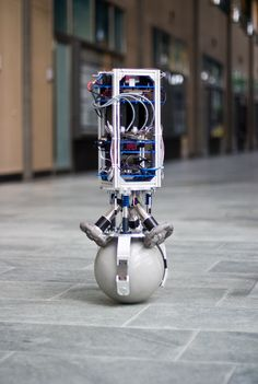 Rezero; a robot designed to balance on a ball. Your own robotic PA (slave) who follows you around (unless you use stairs)