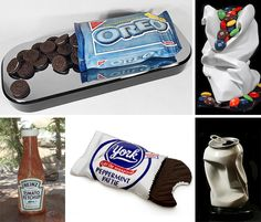 Award-winning sculptor Robin Antar doesn't use food as a medium – she carves stone into incredibly lifelike replicas of food including a ketchup bottle, candy, cookies and soft drinks.