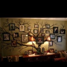 family tree painted on the wall?! yes please.