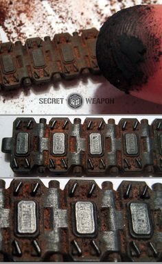 Tank Tread Weathering Tutorial : Secret Weapon Miniatures