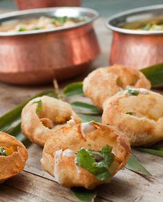 indian-food:Pani Puri [my favorite street food!]