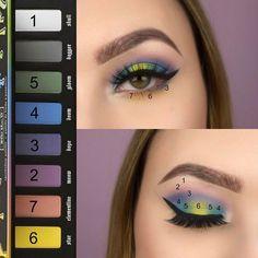 Billedresultat for colorful eyeshadow look