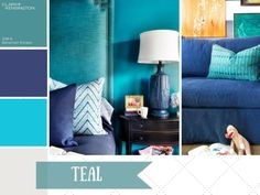 Teal has made a comeback in a big way. When paired with other sophisticated shades, like cobalt blue and neutrals, it's rich and dramatic. This stunning color is one of our favorites to decorate with at HGTV.