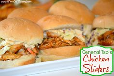 General Tso's Chicken Sliders With Crunchy Slaw - Mom On Timeout