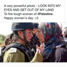 Such a powerful picture... The Women of Palestine have NO FEAR! Masha'Allah ❤ #GazaUnderAttack #PrayForGaza