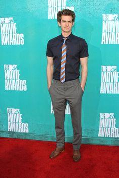 Andrew Garfield in Prada at the 2012 MTV Movie Awards.
