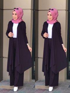 Abaya Style 672443788087689903 - Source by SaraHazrat Modest Fashion Hijab, Hijab Style Dress, Stylish Hijab, Modern Hijab Fashion, Casual Hijab Outfit, Islamic Fashion, Hijab Chic, Abaya Fashion, Muslim Fashion